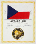 Explorers:Space Exploration, Apollo 13 Flown National Flag of Czechoslovakia Directly from thePersonal Collection of Mission Commander James Lovell, Certi...