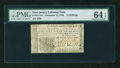Colonial Notes:New Jersey, New Jersey December 31, 1763 12s PMG Choice Uncirculated 64 EPQ....