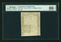 Colonial Notes:Connecticut, Connecticut June 19, 1776 1s3d PMG Gem Uncirculated 66 EPQ....
