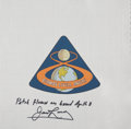 Explorers:Space Exploration, Apollo 8 Flown Beta Cloth Mission Insignia Patch Directly from the Personal Collection of Mission Command Module Pilot James L...