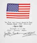 Explorers:Space Exploration, Apollo 8 Flown American Flag Directly from the Personal Collectionof Mission Command Module Pilot James Lovell, Certified and...