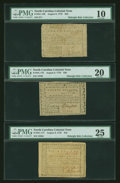 Colonial Notes:North Carolina, Three Circulated North Carolina August 8, 1778 Notes ... (Total: 3notes)