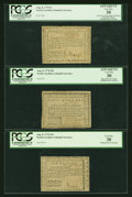 Colonial Notes:North Carolina, Moderately Circulated North Carolina August 8, 1778 Trio... (Total:3 notes)