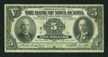 Canadian Currency: , Halifax, NS- The Bank of Nova Scotia $5 July 2, 1918 Ch. #550-30-02. ...