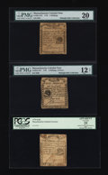 Colonial Notes:Massachusetts, A Trio of 1779 Rising Sun Notes.... (Total: 3 notes)