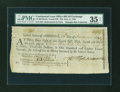 Colonial Notes:Continental Congress Issues, Continental Loan Office Bill of Exchange Fourth Bill- $36 June 12,1780 Anderson US-98/NH-6A. PMG Choice Very Fine 35 NET....