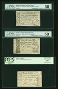 Colonial Notes:South Carolina, About New Trio of South Carolina Colonial Notes. April 10, 17783s9d PMG About Uncirculated 50 NET, . 5s PMG About Uncirculate...(Total: 3 notes)