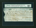 Colonial Notes:Continental Congress Issues, Continental Loan Office Bill of Exchange Third Bill- $30 Feb. 4,1780 Anderson US-97/MA-5A. PMG Very Fine 30 EPQ....