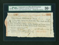 Colonial Notes:Continental Congress Issues, Continental Loan Office Bill of Exchange Fourth Bill- $24 June 17,1779 Anderson US-96/MA-5A. PMG Very Fine 30 NET....