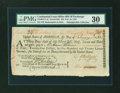 Colonial Notes:Continental Congress Issues, Continental Loan Office Bill of Exchange Fourth Bill- $24 Feb. 19,1782 Anderson US-96/CT-1C. PMG Very Fine 30....