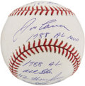 Autographs:Baseballs, Jose Canseco Single Signed Statistic Baseball. ...