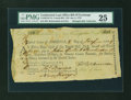 Colonial Notes:Continental Congress Issues, Continental Loan Office Bill of Exchange Fourth Bill- $18 Jan. 8,1779 Anderson US-95/NJ-7A. PMG Very Fine 25....