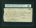 Colonial Notes:Continental Congress Issues, Continental Loan Office Bill of Exchange Second Bill- $18 Feb. 24, 1781 Anderson US-95/MA-5A. PMG About Uncirculated 50....
