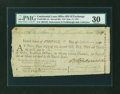 Colonial Notes:Continental Congress Issues, Continental Loan Office Bill of Exchange Second Bill- $18 Sept. 17,1781 Anderson US-95/MD-4A. PMG Very Fine 30....
