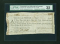 Colonial Notes:Continental Congress Issues, Continental Loan Office Bill of Exchange Third Bill- $12 Feb. 19,1785 Anderson US-94/PA-10A. PMG Very Fine 25....