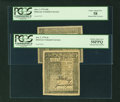 Colonial Notes:Delaware, Choice About New Delaware January 1, 1776 Pair.... (Total: 2 notes)