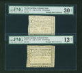 Colonial Notes:North Carolina, A Pair of July 14, 1760 North Carolina Notes.... (Total: 2 notes)