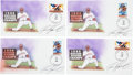 Autographs:Others, Ivan Rodriguez Signed Cachets Lot of 4. ...