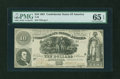 Confederate Notes:1861 Issues, T30 $10 1861 PF-2.. ...