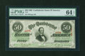 Confederate Notes:1863 Issues, T57 $50 1863 PF-8 Cr.414.. ...