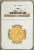 Liberty Eagles, 1853-O $10 AU53 NGC....