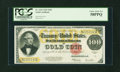 Large Size:Gold Certificates, Fr. 1215 $100 1922 Gold Certificate PCGS Choice About New 58PPQ....
