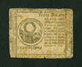 Colonial Notes:Continental Congress Issues, Continental Currency Nov. 2, 1776 $30 Very Good....