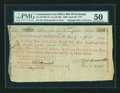 Colonial Notes:Continental Congress Issues, Continental Loan Office Bill of Exchange Fourth Bill- $300 April26, 1779 Anderson US-101/MD-4A. PMG About Uncirculated 50....