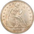 Seated Dollars, 1856 $1 AU58 PCGS....