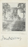 """Autographs:Military Figures, John S. """"Gray Ghost"""" Mosby Signed Photo Postcard, also Addressed in His Hand. ..."""