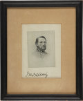 Autographs:Military Figures, John S. Mosby: Signed Printed Portrait....