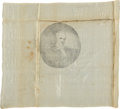 Political:Textile Display (pre-1896), James Buchanan: Rare Large Silk Portrait Kerchief....