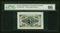 Fractional Currency:Third Issue, Fr. 1255SP 10¢ Third Issue Wide Margin Face PMG Gem Uncirculated 66....