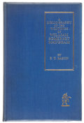 Books:Signed Editions, [W. Somerset Maugham]. Frederick T. Bason. A Bibliography of the Writings of William Somerset Maugham. London: The U...