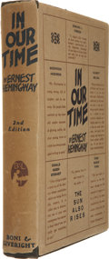 Books:First Editions, Ernest Hemingway. In Our Time. New York: Boni &Liveright, 1925....