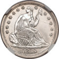 Seated Half Dimes: , 1839-O H10C No Drapery MS66 NGC. NGC Census: (2/1). Mintage:1,000,000. Numismedia Wsl. Price for pr...