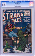 Golden Age (1938-1955):Horror, Strange Tales #40 (Atlas, 1955) CGC FN+ 6.5 Cream to off-whitepages....