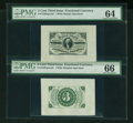 Fractional Currency:Third Issue, Fr. 1227SP 3¢ Third Issue Wide Margin Pair PMG Gem Uncirculated 66 and Choice Uncirculated 64.... (Total: 2 notes)
