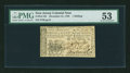 New Jersey December 31, 1763 1s PMG About Uncirculated 53