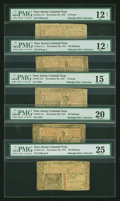 Colonial Notes:New Jersey, Five New Jersey November 20, 1757 Notes.... (Total: 5 notes)