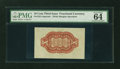 Fractional Currency:Third Issue, Fr. 1251SP 10¢ Third Issue Red Back PMG Choice Uncirculated 64....