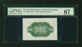 Fractional Currency:Third Issue, Fr. 1255SP 10¢ Third Issue Wide Margin Green Back PMG Superb Gem Unc 67....