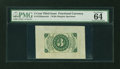Fractional Currency:Third Issue, Fr. 1226SP 3¢ Third Issue Wide Margin Back PMG Choice Uncirculated 64....