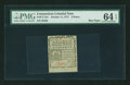 Colonial Notes:Connecticut, Connecticut October 11, 1777 3d PMG Choice Uncirculated 64 EPQ....