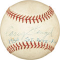 Autographs:Baseballs, 1954 Casey Stengel Single Signed Baseball....