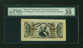 Fractional Currency:Third Issue, Fr. 1329SP 50¢ Third Issue Spinner Wide Margin Face PMG About Uncirculated 55 EPQ....