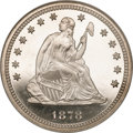 Proof Seated Quarters, 1878 25C PR65 Cameo NGC....