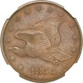 Patterns, 1855 P1C Flying Eagle Cent, Judd-168 Original, Pollock-193, R.4, PR64 Brown NGC....
