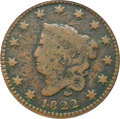 1822 N-14 1C --Damaged, Corroded--NCS. VG Details....(PCGS# 1624)