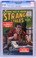 Golden Age (1938-1955):Science Fiction, Strange Tales #39 (Atlas, 1955) CGC FN/VF 7.0 Off-white to whitepages....